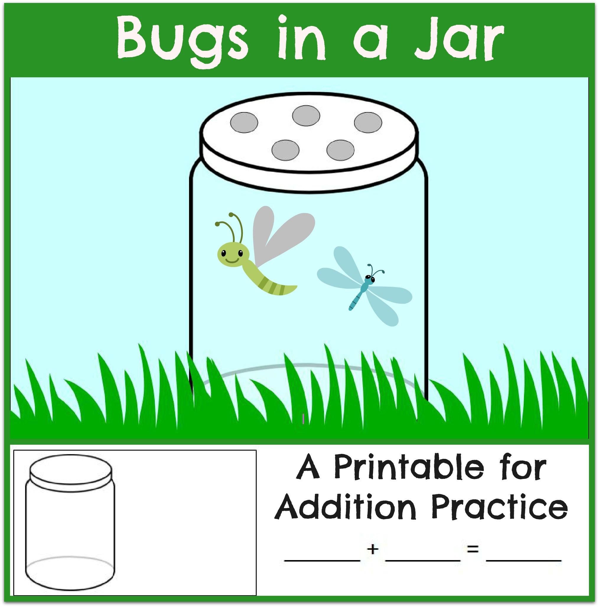 Bug Jar Math Printables Activities For Kids