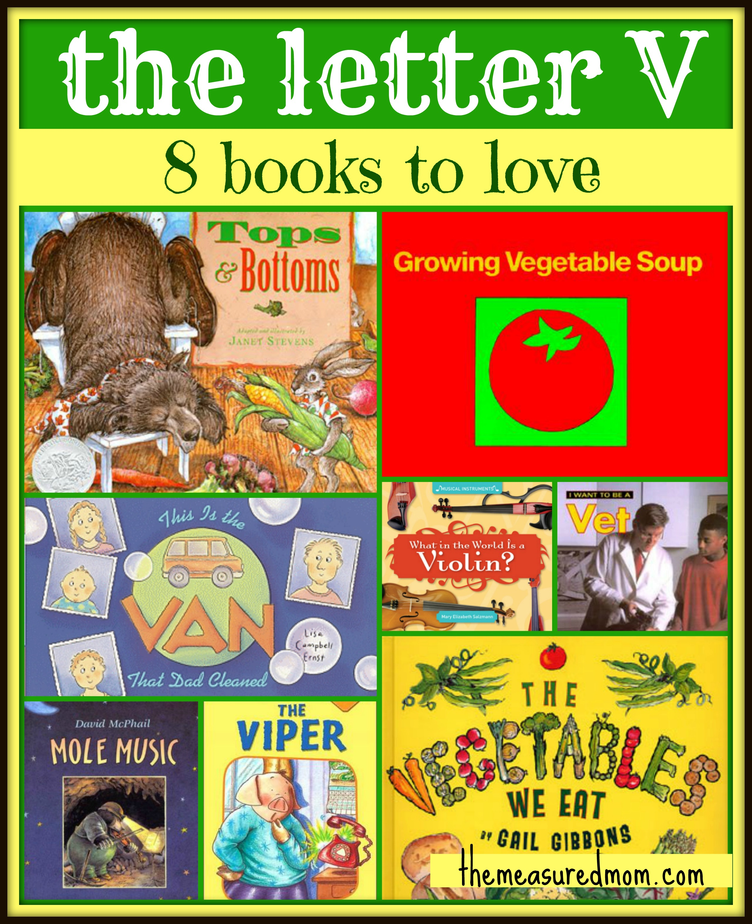 Letter Of The Week Book List Letter V