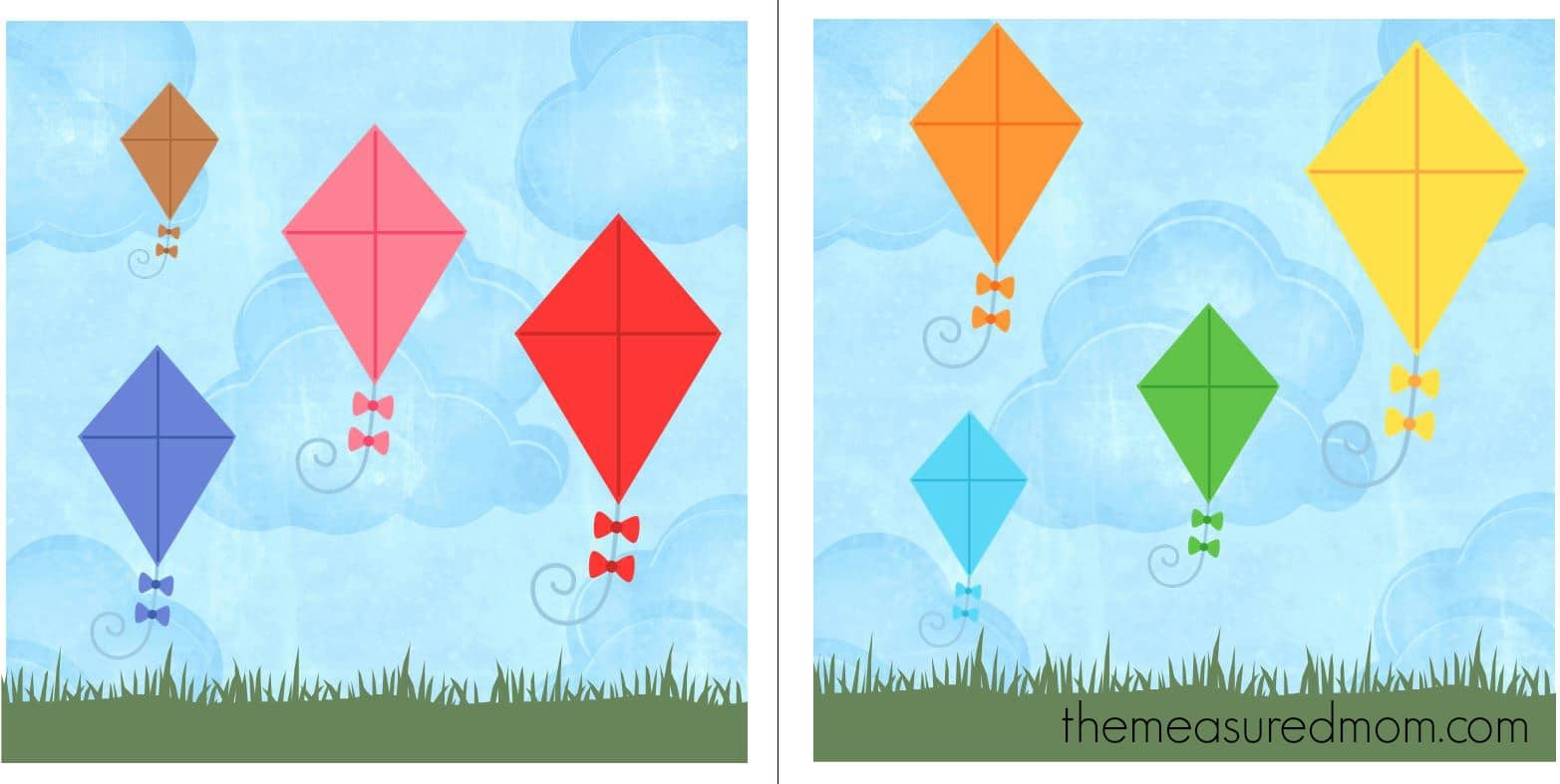 Free File Folder Game For Preschoolers Kites