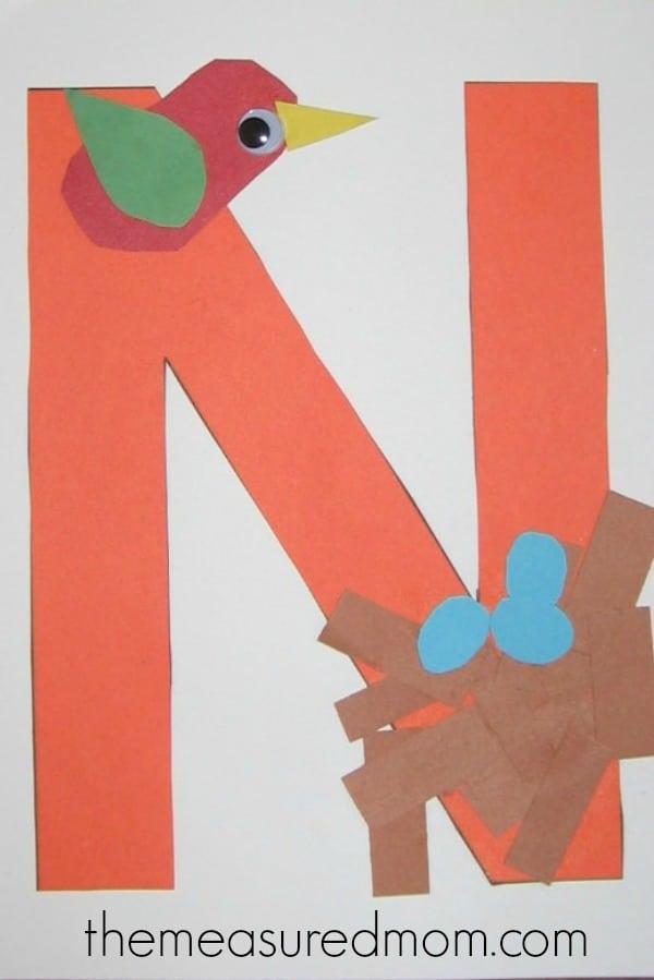 Letter N Crafts For Preschoolers The Measured Mom