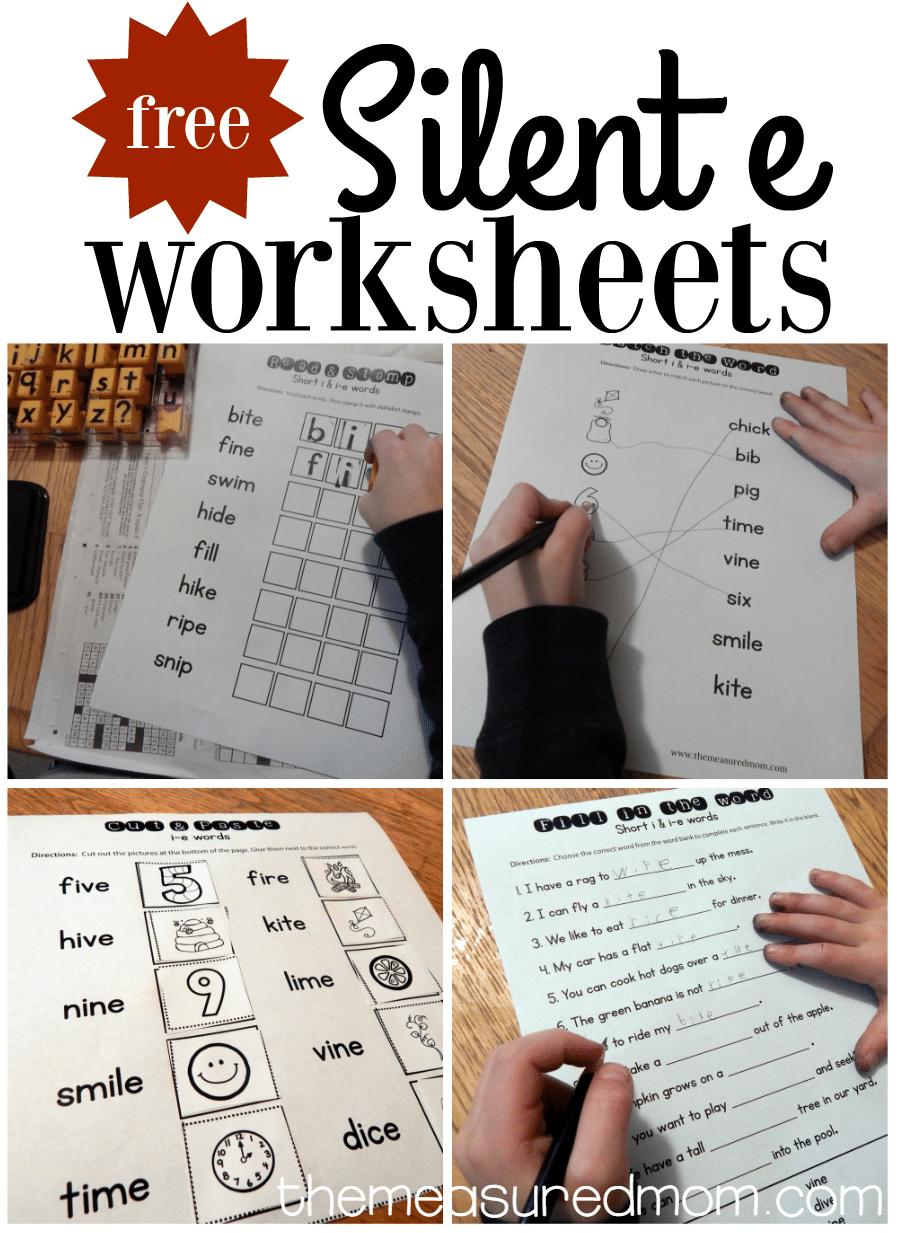 Worksheets For I E Words