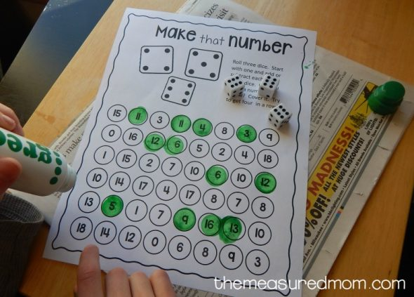 Free addition and subtraction game   The Measured Mom addition and subtraction game 1