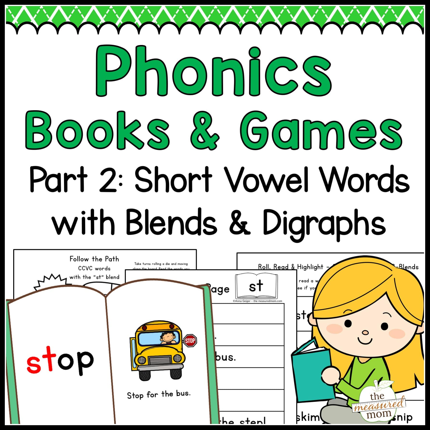 Phonics Books Amp Games Short Vowel Words With Blends