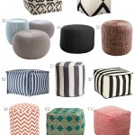 Outdoor Furniture Upgrade Poufs Ottomans Stools For Porch Patio The Mom Edit
