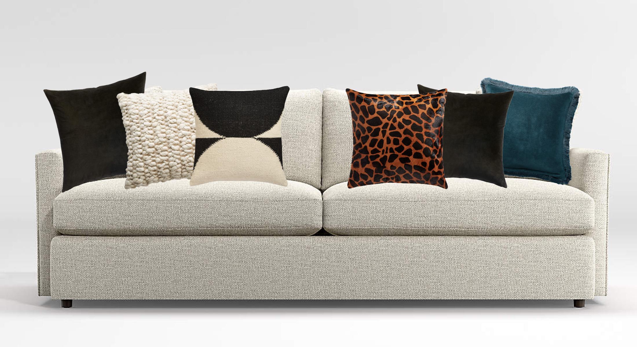 6 throw pillow ideas to refresh a grey