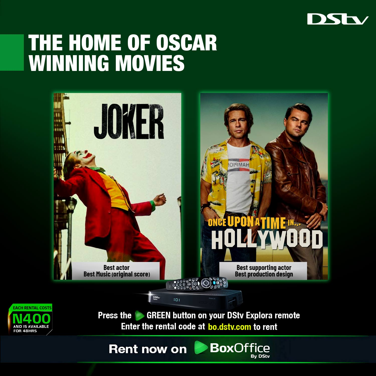 Dont Miss These Movies That Won The Oscars On DStv Boxoffice