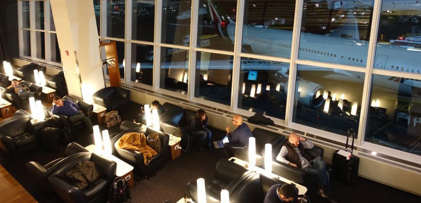 Lufthansa's first class lounge is one of the best in the US.