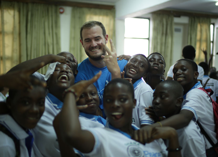 I had so much fun getting to know the kids involved with PeaceJam!
