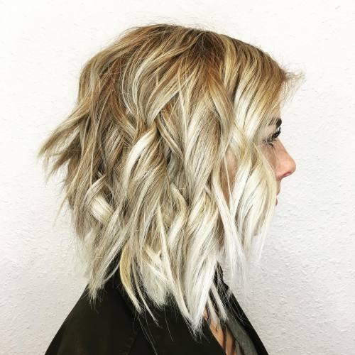 Blonde Balayage With Choppy Layers