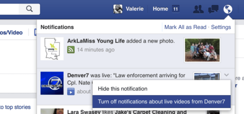 Turn Off Live Notifications on Facebook