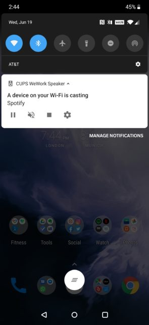 A device on your Wi-Fi is casting
