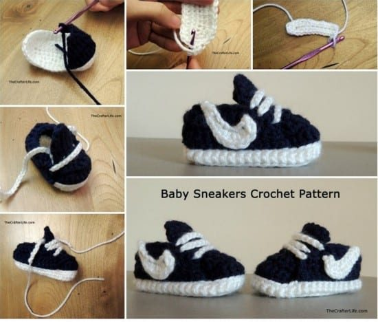 Knitted Converse Booties Pattern