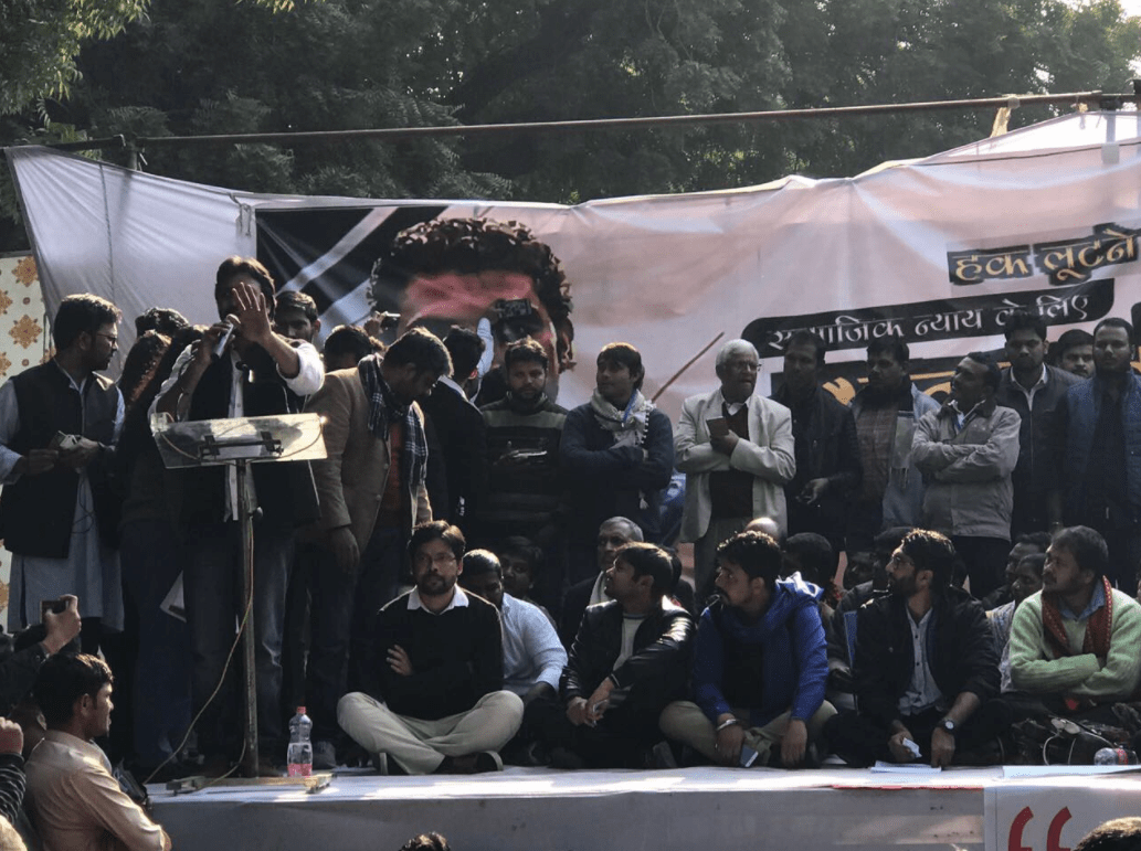 The 'Yuva Hunkar' rally was held in New Delhi on Tuesday. Credit: The Wire