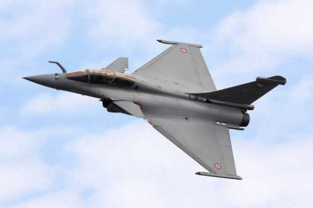 'Rafale B', French Air Force combat jets. Credit: IPS