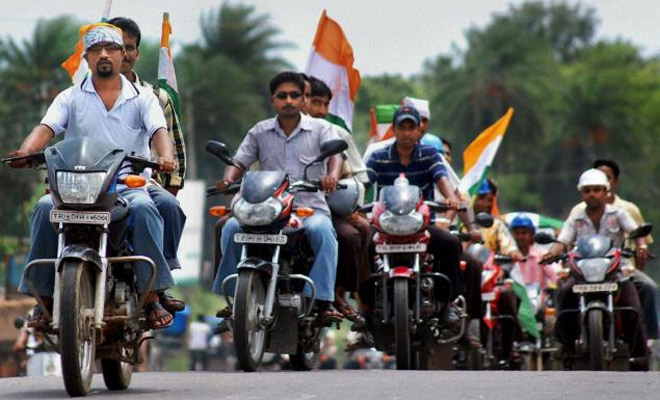 File photo of a bike rally. Credit: PTI