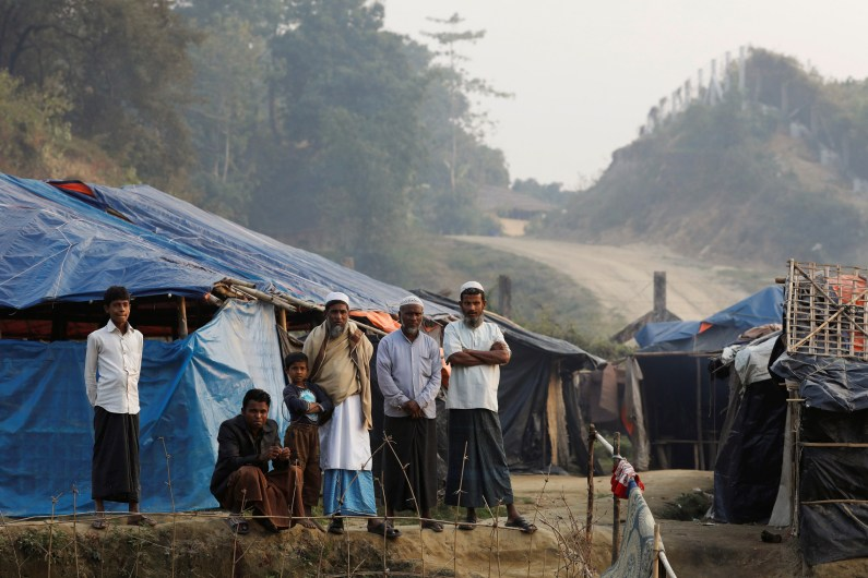 Rohingya refugees are seen in a refugee camp at no-man's land at the Bangladesh-Myanmar border, in Cox's Bazar, Bangladesh January 12, 2018. Credit: Reuters/Tyrone Siu