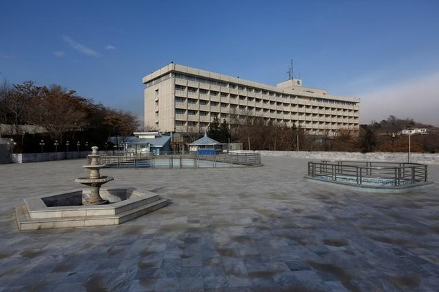 FILE PHOTO: View of the Intercontinental Hotel in Kabul, Afghanistan, January 25, 2016. Picture taken January 25, 2016. Credit: Reuters/Mohammad Ismail/File Photo