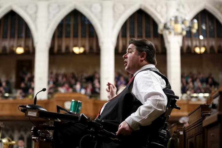 Canada's Veterans Affairs Minister Kent Hehr speaks during Question Period in the House of Commons on Parliament Hill in Ottawa, Canada, January 25, 2016. Credit: Reuters/Chris Wattie