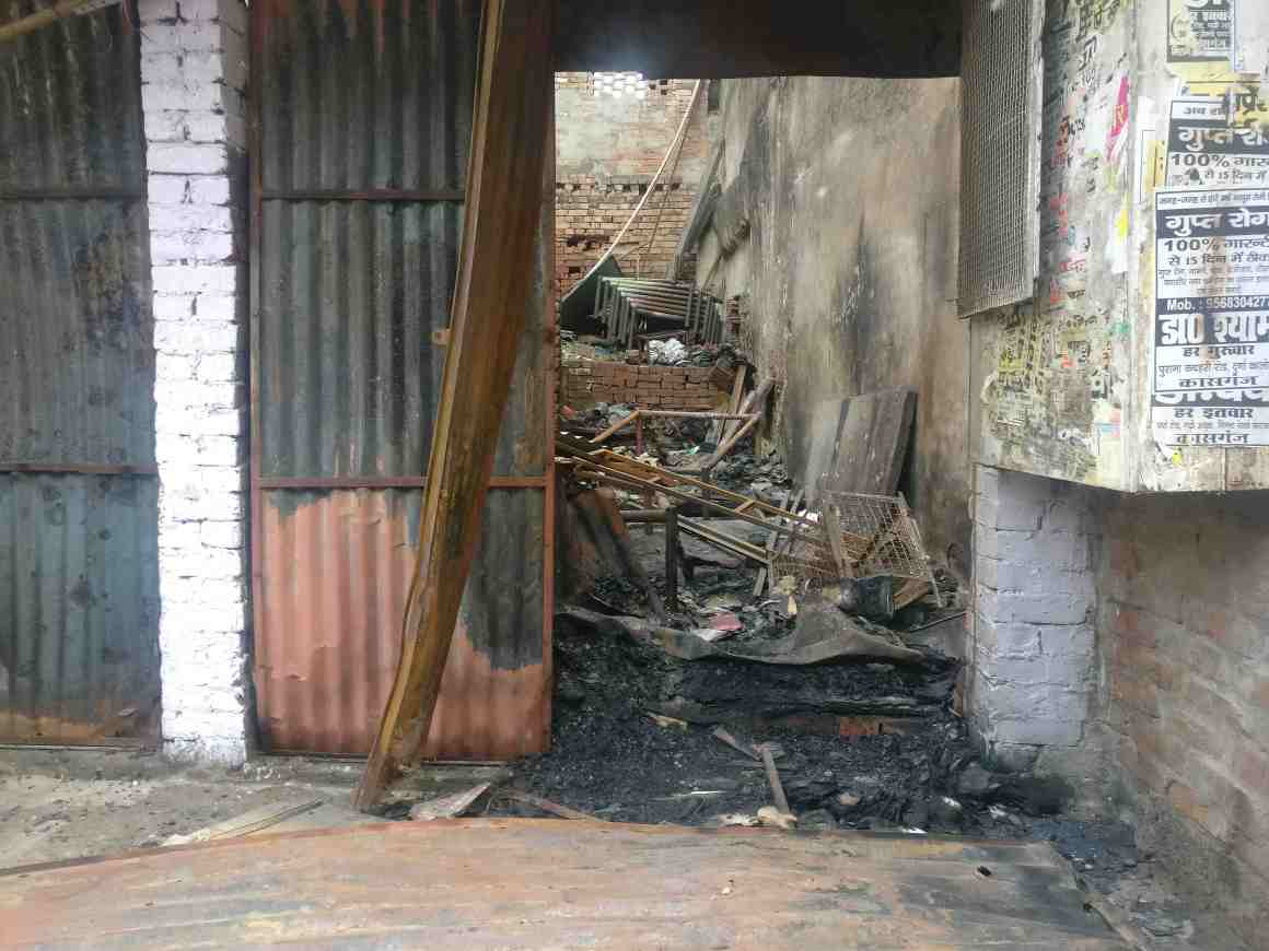 Shops owned by Muslims seen after the riots. Credit: Ajoy Ashirwad Mahaprashasta