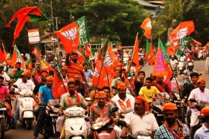 File photo of a BJP bike rally. Credit: PTI