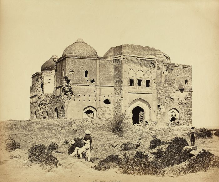 Felice Beato's 'Mosque Picket' [Chauburja Mosque], Delhi from the album Mutiny Sites and Europe. Credit: The Alkazi Collection of Photography
