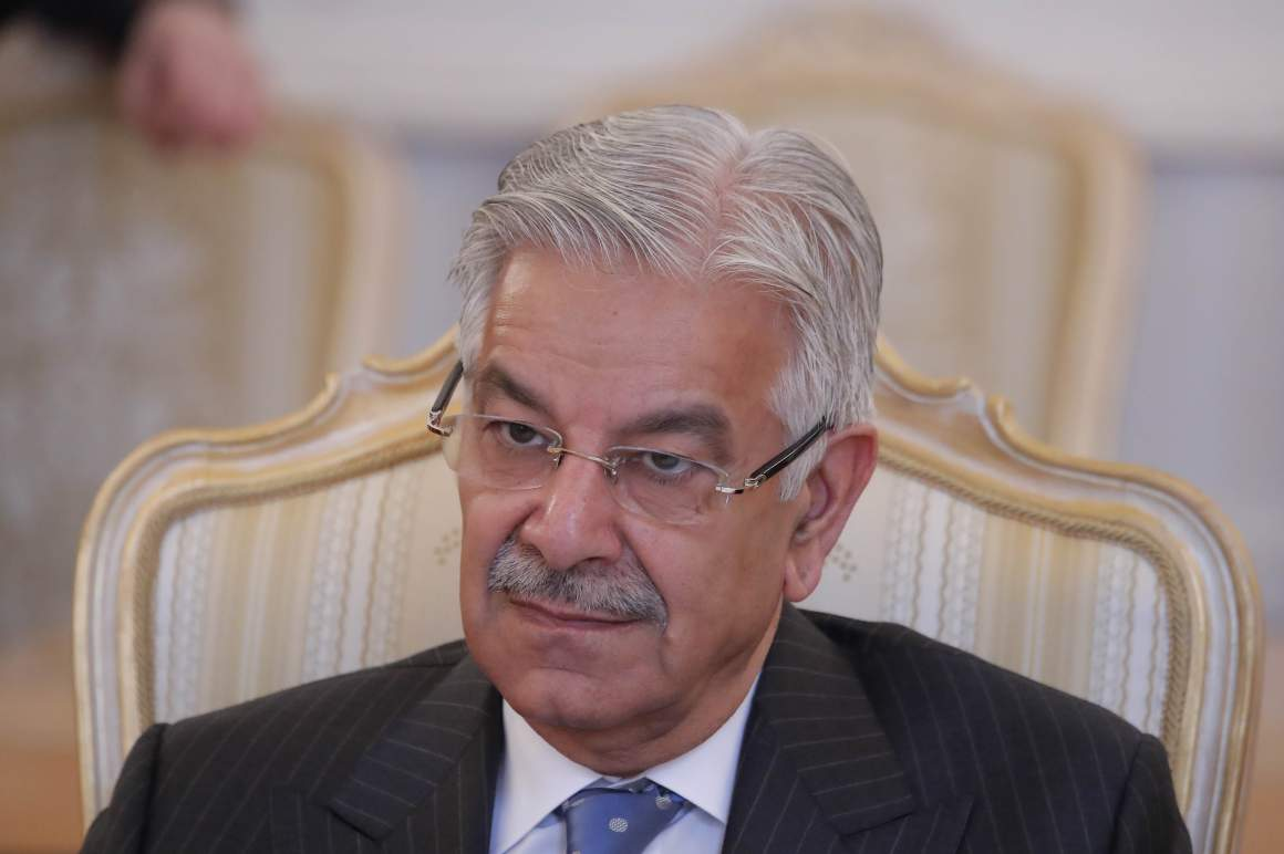 Pakistani foreign minister Khawaja Asif attends a meeting with his Russian counterpart Sergei Lavrov in Moscow, Russia February 20, 2018. Credit: Reuters/Maxim Shemetov