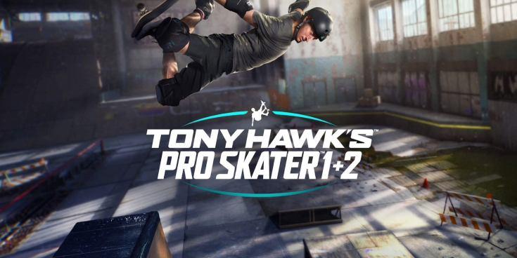 Tony Hawk Pro Skater 1 + 2 logo.