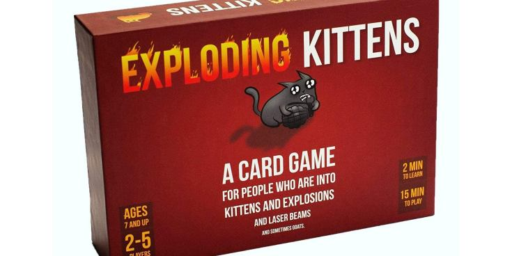 Exploding Kittens board game.