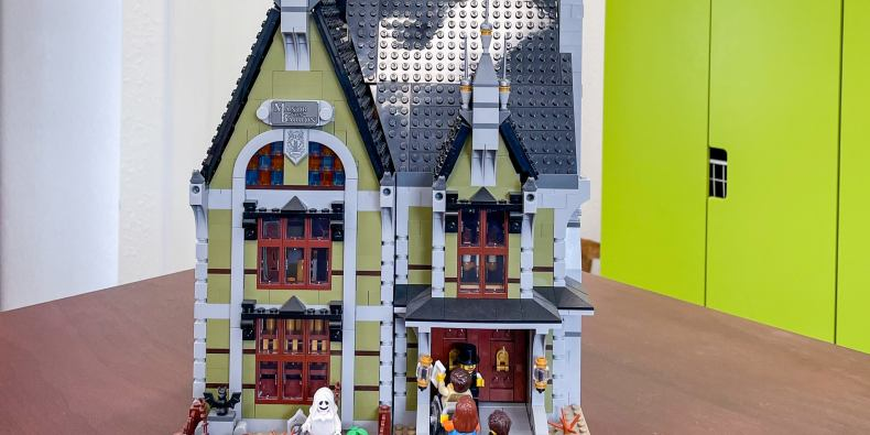The Lego Haunted House 10273, shown fully assembled.