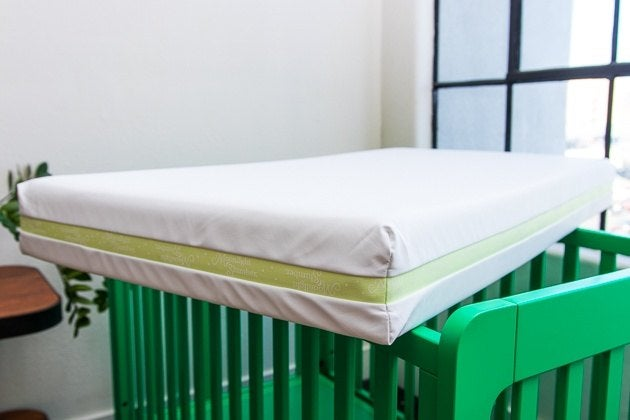 Our Pick For Best Crib Mattress The Moonlight Slumber Little Dreamer Placed On Top