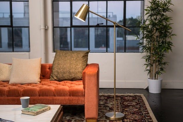 The Best Floor Lamps Under  300  Reviews by Wirecutter   A New York     We really like the swivel head  mid century   modern design of the Threshold  Cantilever Floor Lamp  but this Target house brand lamp lost points because  the