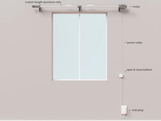 the morningrod smart curtain rod