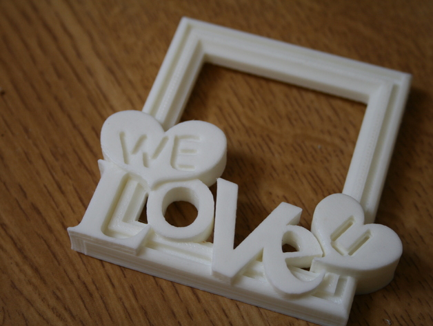 WE LOVE U Picture Frame By G3DPRINTING Thingiverse