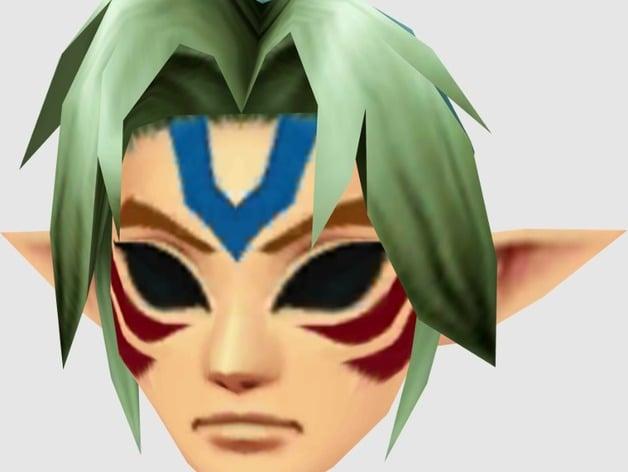 Zelda Link Fierce Deity Mask By DaDave Thingiverse