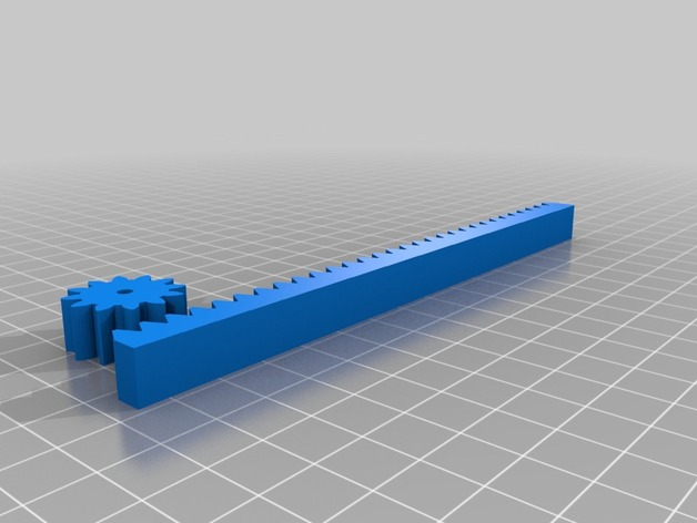 openscad rack pinion generator by