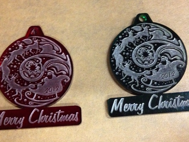 Christmas Ornament Laser Cut From Acrylic By ManicGamer