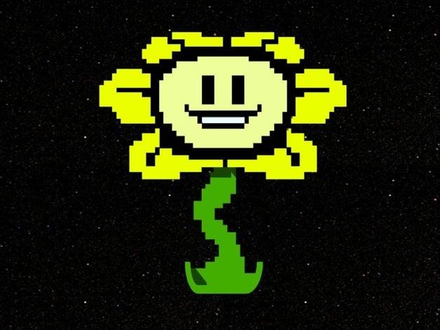 Flowey The Flower By StoneColdLoki Thingiverse