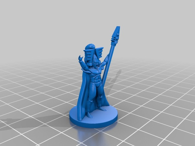 Eldar Avatar by fractalnoise 3d printed 6mm Army: Eldar. Infantería
