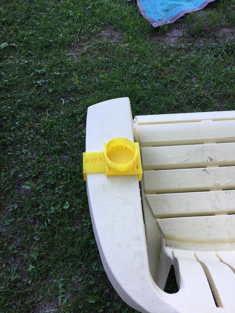 Adirondack Chair Clip On Cupholder By Apendergrass Thingiverse