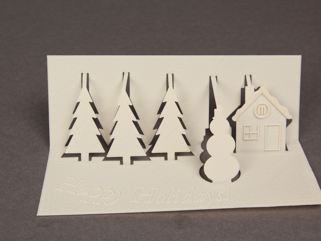 3D Greeting Card By MakerBot Thingiverse