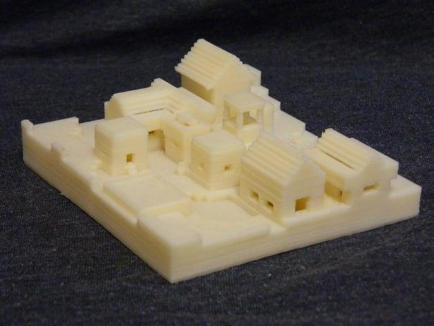Minecraft Mini Village By Adam3i Thingiverse
