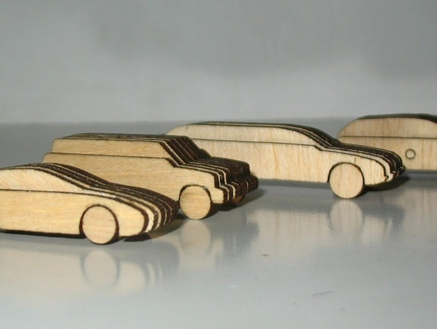 Laser Cut Out Wooden 1100 Scale Cars By Saeedar Thingiverse