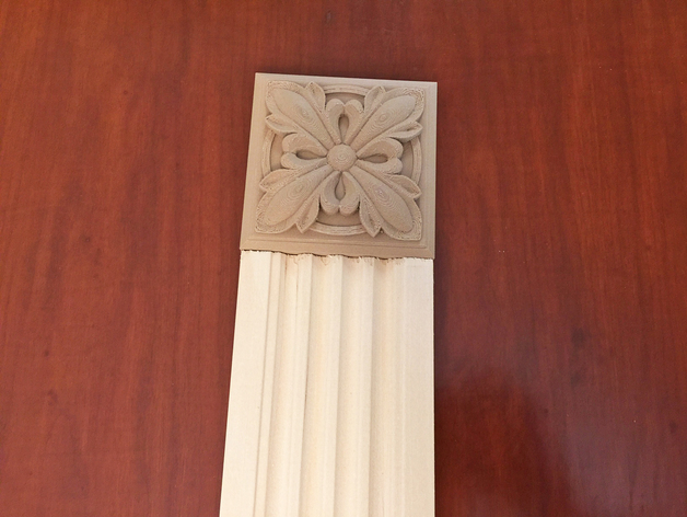 Victorian Rosette Block For Door And Window Trim By Craeen