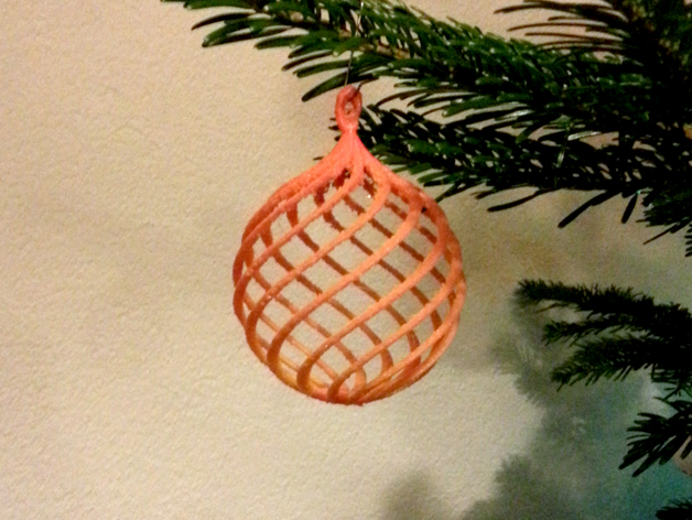 Bauble Christmas Tree Ball Boule Pour Sapin De Noel By S1337 Thingiverse