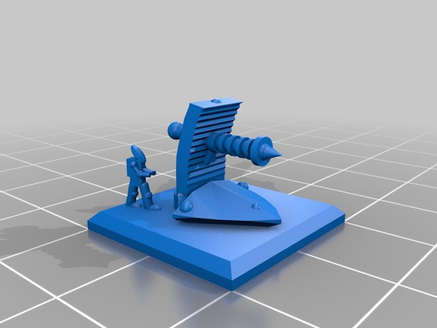 3d printed 6mm Army: Eldar. Infantería vibro cannon