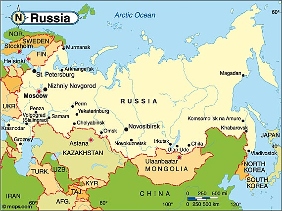 Moscow Sochi Russia Map And