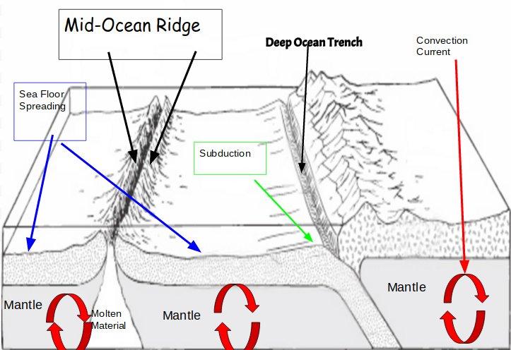 SeaFloor Spreading Diagram