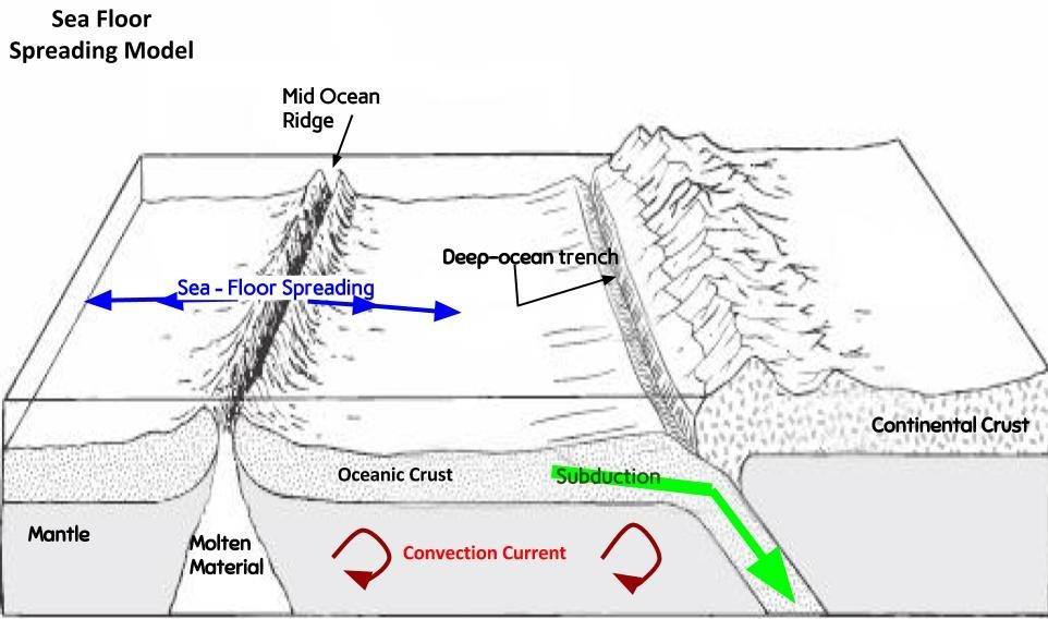 Sea Floor Spreading Model