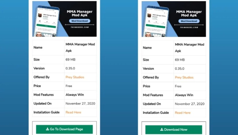 Download MMA Manager Mod Apk