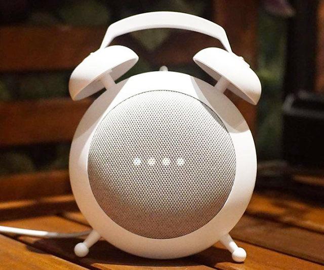 Google Home Mini Retro Alarm Clock